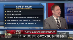 Fox News story about Volvo Subscription