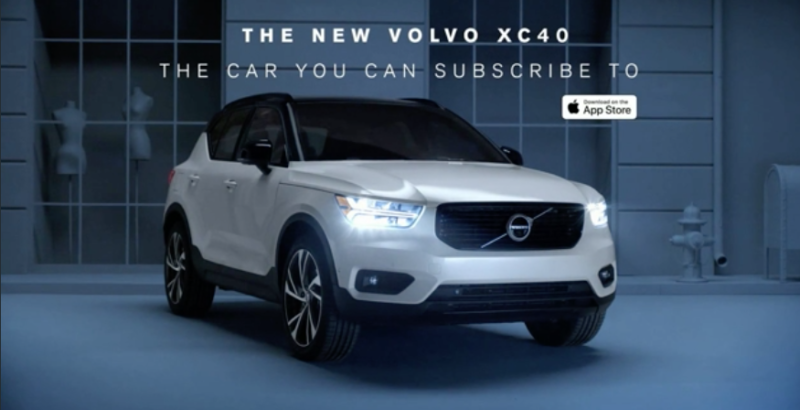Volvo Subscription Ad