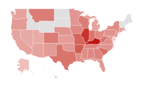 "States that searched for ""Community Bank"""